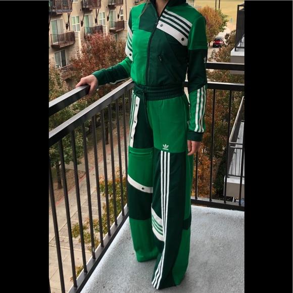 Adidas Danielle Cathari Deconstructed Green Track Pants
